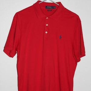 Red Mens Ralph Lauren Polo Medium